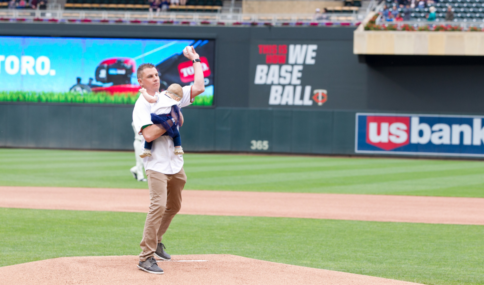 Nathan_Newlands_Throws_First_Pitch_At_MN_Twins_Game_2